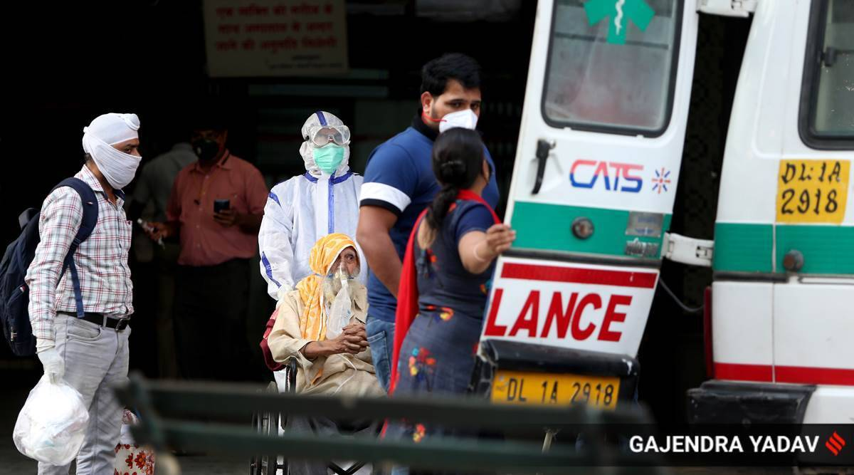 delhi coronavirus latest updates, delhi covid cases, delhi hindu rao hospital, hindu rao hospital patients shifted, delhi hindu rao hospital covid, delhi city news