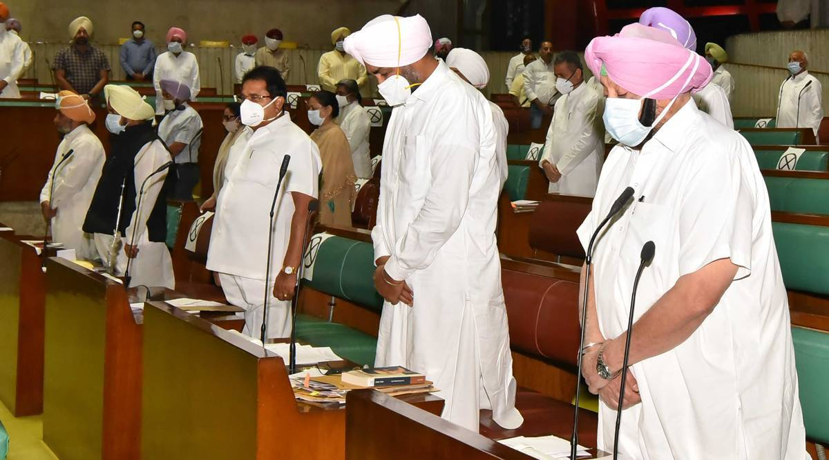Punjab Assembly: No discussion on Centre's agri laws on first day of special session | India News,The Indian Express