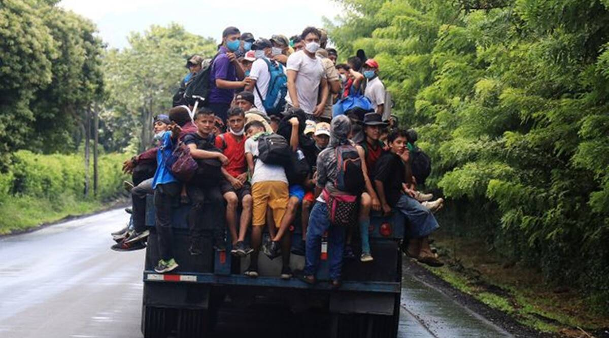 Honduran migrants, Honduran migrants travel to US, US Honduran migrants, World news, Indian Express