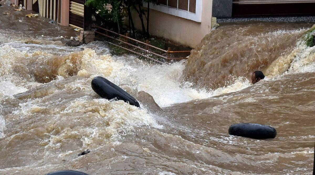 hyderabad rains, hyderabad rain news, hyderabad weather, hyderabad weather updates, hyderabad weather today, telangana rains, andhra pradesh rains, indian express