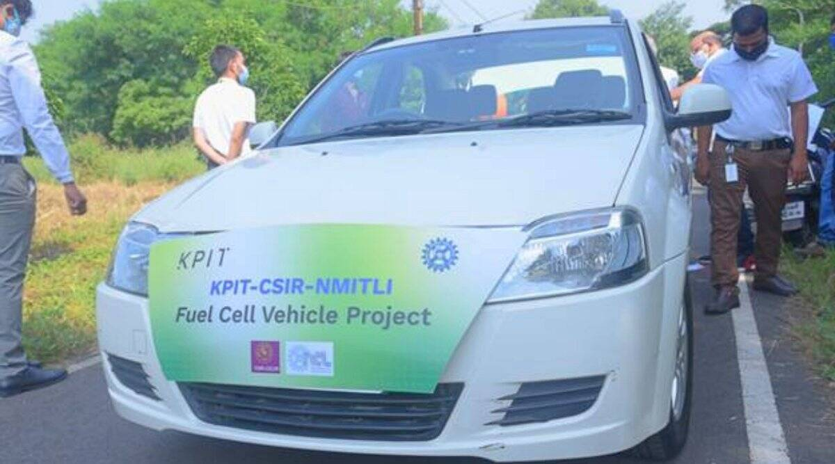 csir, India's first hydrogen fuel cell electric hybrid car, kpit, indian express