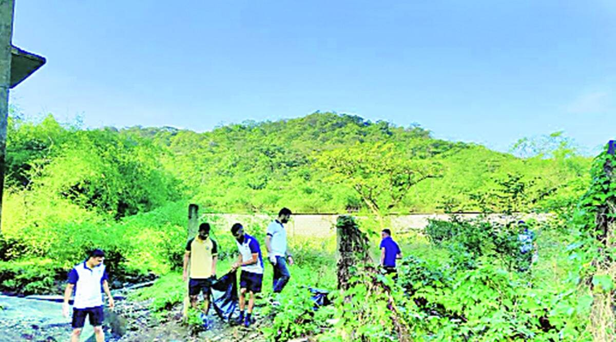 INS Shivaji, INS Shivaji cleanliness campaign, INS Shivaji tree plantation drive, Swacchata Hi Seva campaign, indian express news