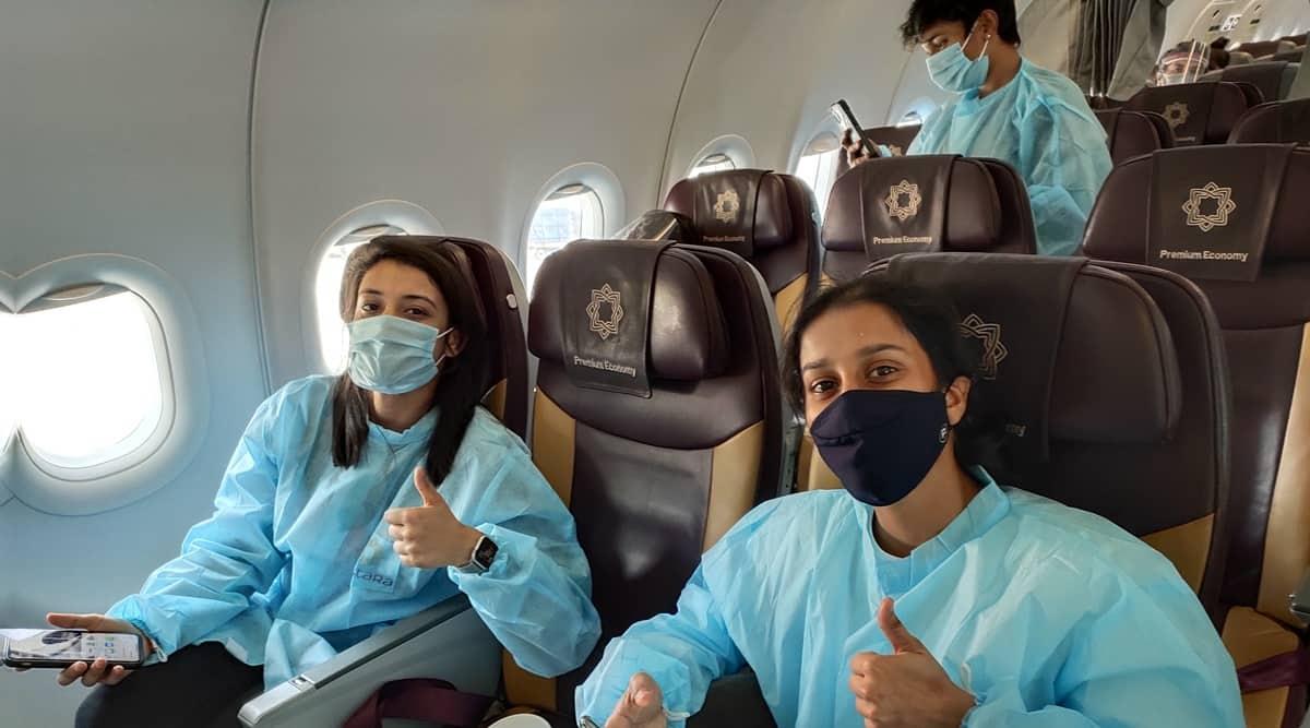 Indian women's contingent reaches UAE for mini WIPL