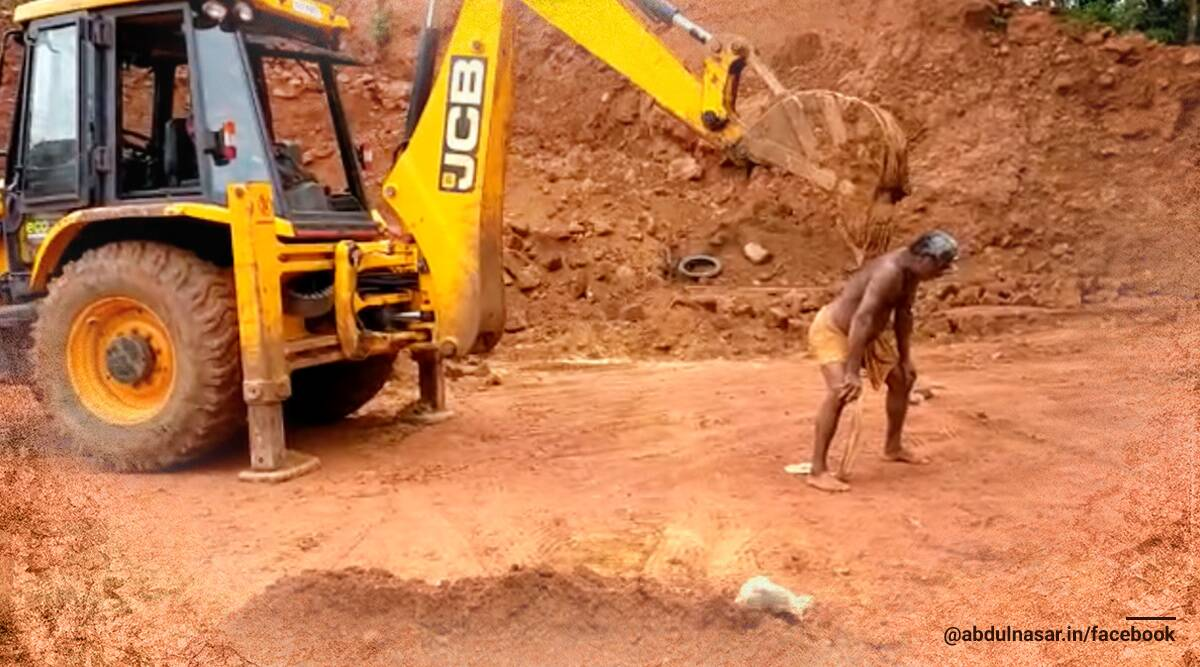 jcb, jcb memes, jcb viral video, jcb machine, jcb back scratcher viral video, jcb excavator, trending news, jcb back scratcher, jcb back scratcher viral video, indian express news