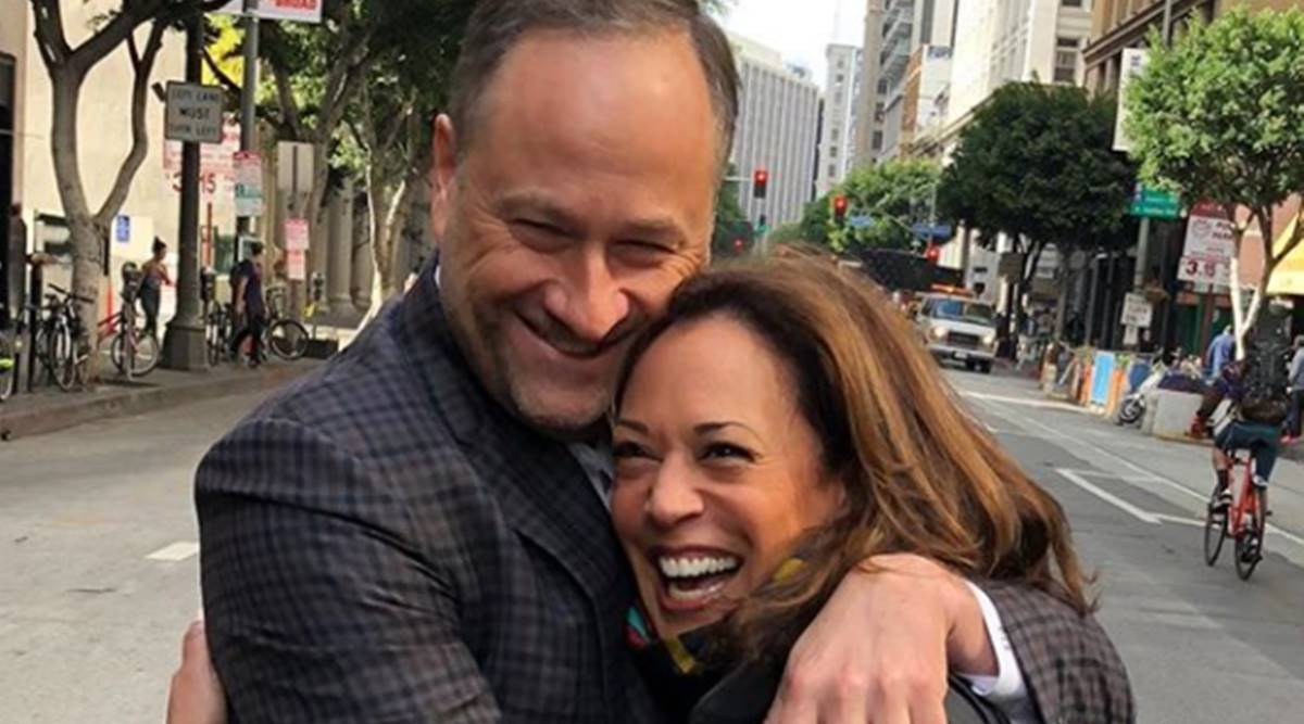 Blind Date Love At First Sight Douglas Emhoff Wishes Wife Kamala Harris On Birthday Lifestyle News The Indian Express