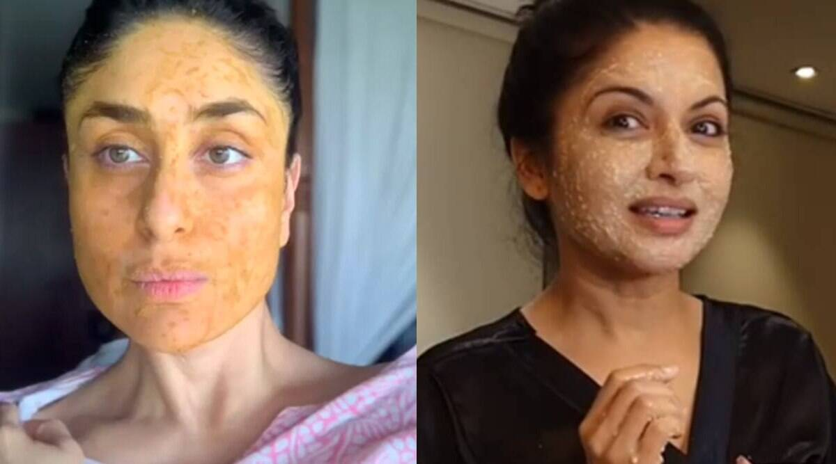 kareena kapoor, bhagyashree, diy face pack