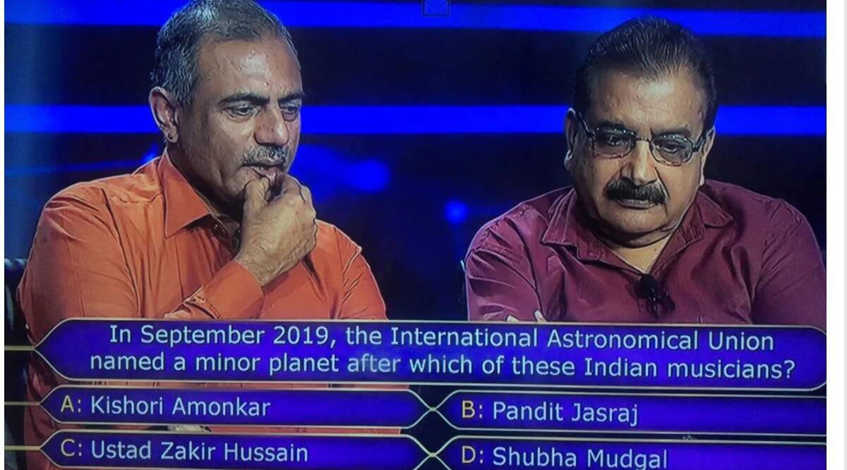 pandit jasraj, kbc 12, indianexpress.com, indianexpress, pandit jasraj indianexpress, kbc 12 25 lakh question, kaun banega crorepati 12, amitabh bachchan, minor planet pandit jasraj, ajeevika foundation,