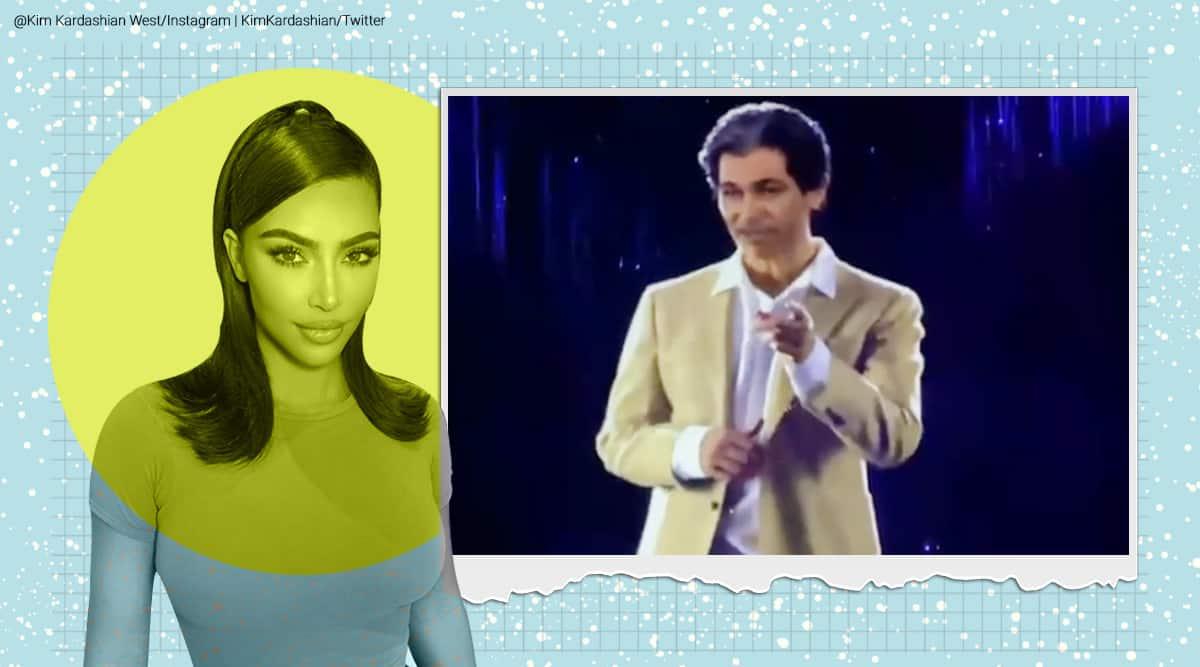 Kim Kardashian, Kim Kardashian birthday, Kim Kardashian hologram gift, Kim Kardashian birthday gift, Kim Kardashian Kanye west gift, Robert Kardashian hologram, Kim Kardashian, Kim Kardashian birthday party, Tahiti, Viral video, Trending news, Indian Express news