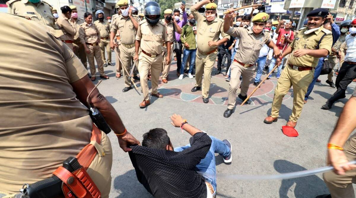 Centre of protests shifts to Jantar Mantar; UP suspends Hathras SP and four others - The Indian Express