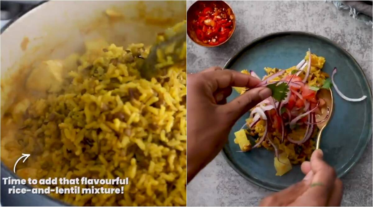 biryani, wrong biryani recipe, bad biryani recipe, food 24 biryani recipe, biryani with daal, weird food news, viral news, indian express