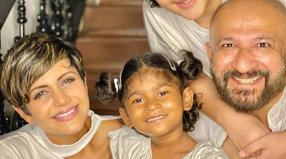 Mandira Bedi on adopting four-year-old Tara: Grateful, thankful, blessed - The Indian Express
