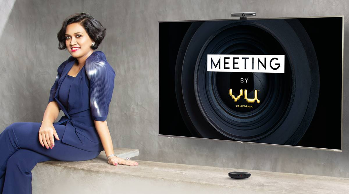 meeting by vu, vu workstyle, vu video conferencing tv, vu ceo devita saraf, vu video conference software, vu video conference tv features, vu video conference tv camera, vu video conference tv specifications