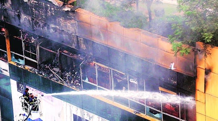 Mumbai fire, mumbai city mall, mumbai city mall fire, mumbai city mall fire injured, mumbai city mall fire update, mumbai city mall fire news, indian express news