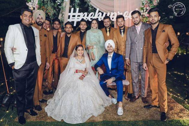 neha kakkar wedding photos, neha kakkar, neha kakkar reception, neha kakkar wedding, neha kakkar marriage, neha kakkar husband, neha kakkar rohan preet singh,