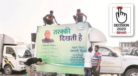 Bihar election, Bihar elections, Bihar assembly polls, nitish kumar, nitish kumar bihar elections, JDU-BJP alliance, Nitish kumar social media, bihar elections 2020, bihar elections coronavirus, indian express news