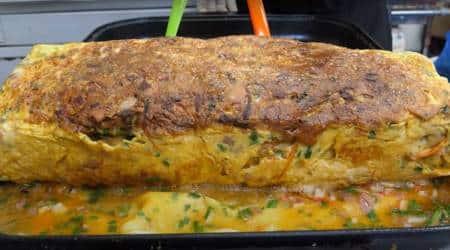 omelette recipe. street food