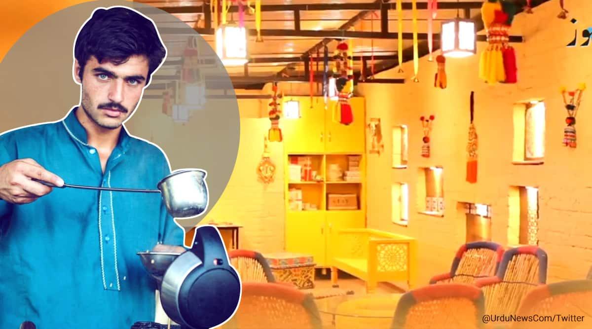 pakistani chaiwala, hot pakistani chai wa, pakistani chai wala, pak chai wala modelling, chai wallah modelling contract,, pakistan chai wala model, indian express news, indian express