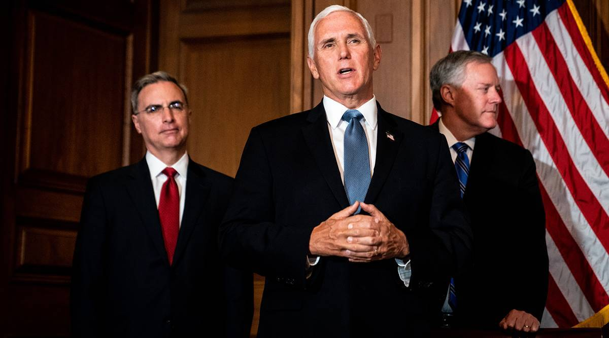 Mike Pence, Mike Pence campaign, Mike Pence Vice President campaign, Donald Trump, Donald Trump coronavirus, Trump covid, World news, Indian Express