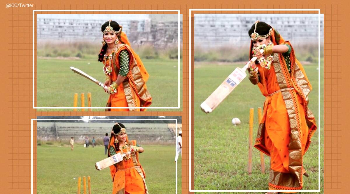 Saree Jewellery And A Bat Bangladesh Cricketer Sanjida Islam S Wedding Photoshoot Is Going Viral Trending News The Indian Express