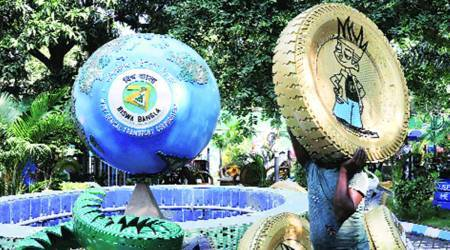 Kolkata Tyre Park, Kolkata park decked up with used tyres, kolkata used tyres park, kolkata city news