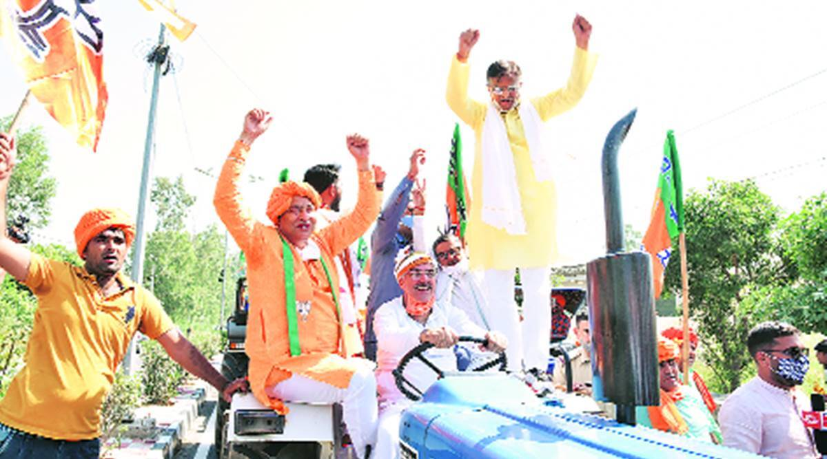 BJP mobilise support for farm laws, Haryana BJP, agri acts, CHandigarh news, Haryana news, Indian express news