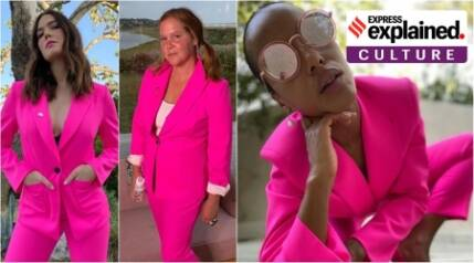 Explained: The politics of the pink pantsuit