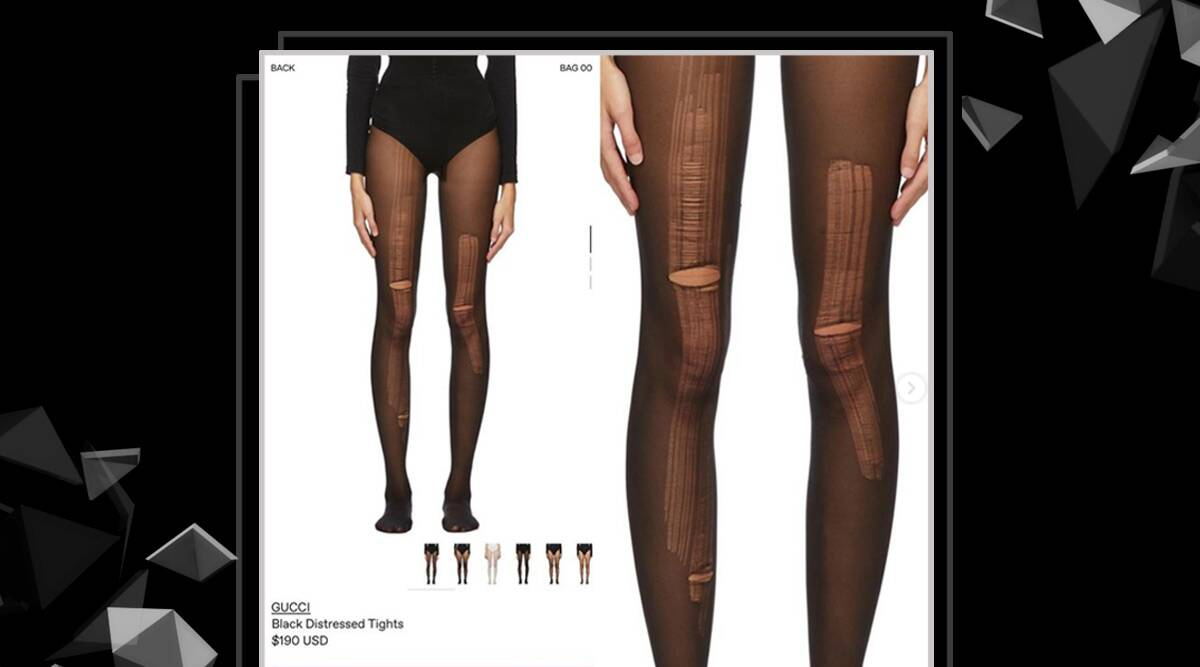 Gucci is now selling distressed stockings; can you guess the price? |  Lifestyle News,The Indian Express