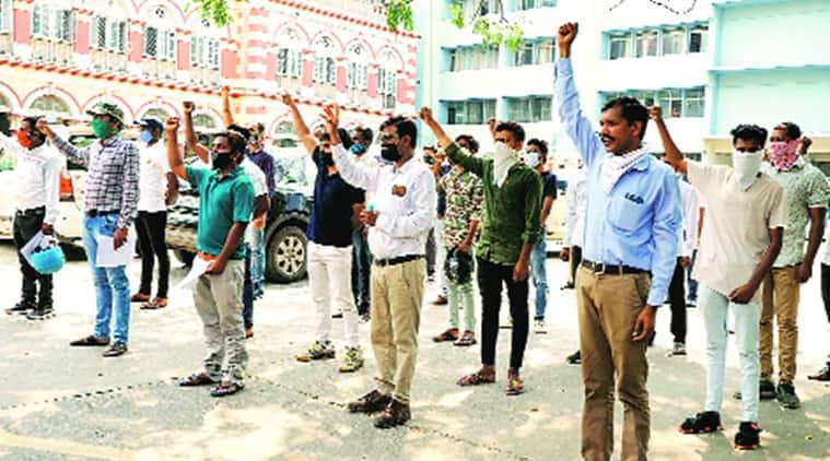 hathras rape, hathras gang rape, surat lady advocate protest over hathras rape,Surat District Lady Advocate Active Committee Members, indian express news