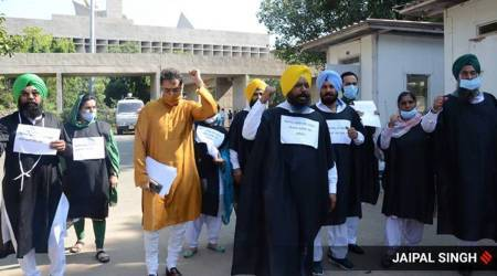 AAP protests in well of House, SAD stages sit-in outside Punjab Bhawan