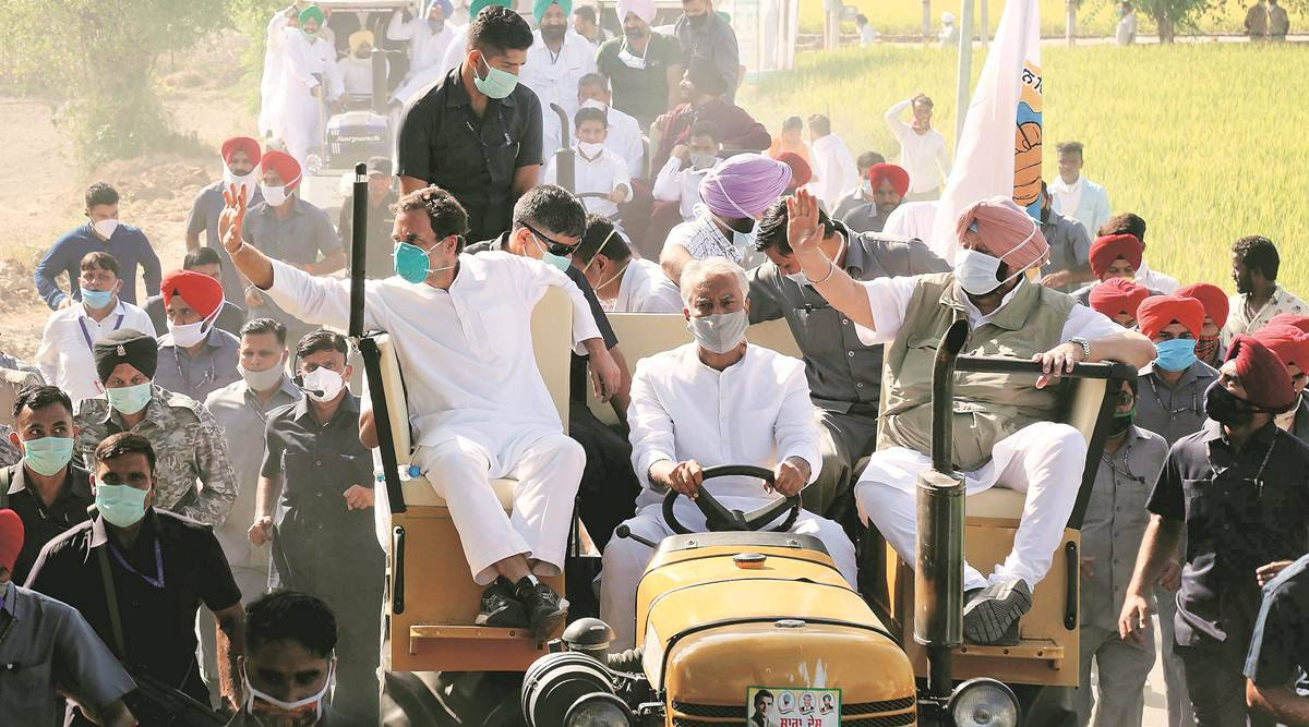At Congress Punjab tractor rally, Rahul Gandhi vows to rip farm laws   India News,The Indian Express