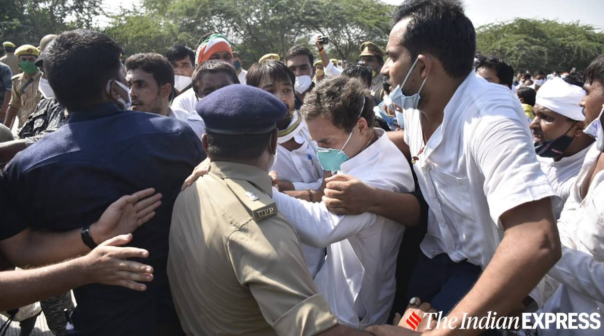 UP Police Arrested Congress Leader Rahul Gandhi And Priyanka Gandhi