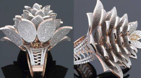 Guinness World Record, most diamonds set in one ring, world record diamond ring, India Guinness World Record diamond ring, Hyderabad jeweller Guinness World Record, most diamonds in ring world record, trending news, Indian Express news.