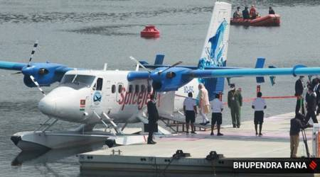 SpiceJet, Sabarmati seaplane service, Statue of Unity, prime minister narendra modi, Kevadia, gujarat sea plane services suspended