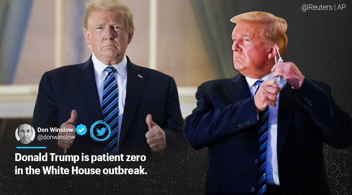 US President Donald Trump, Trump covid-19, Trump without mask, Trump takes off mask, Trump immune, Trump without mask reaction, Trump coronavirus updates, Trending news, Indian Express news.