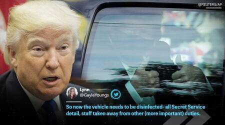 donald trump health update, donald trump leaves hospital to greet supporters, donald trump leaves hospital, donald trump coronavirus, trump covid, trump hospitalised, donald trump news