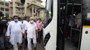 Bangalore electric buses, e-buses Bengaluru, electric buses india, B S Yediyurappa, Laxman Savadi, Bangalore traffic, Bengaluru traffic, Bengaluru news, Bangalore news, indian express