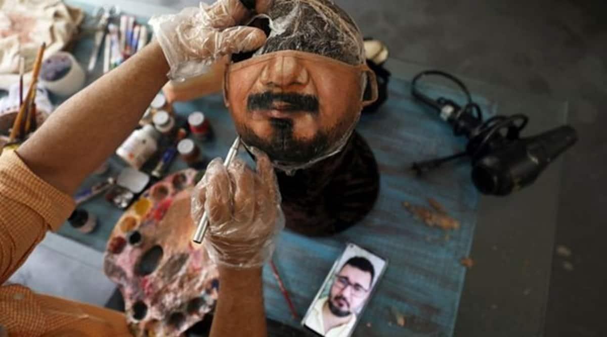 Coronavirus, COVID-19, Brazil, Mask art, Face mask art, Face mask painting, Trending news, Indian Express news