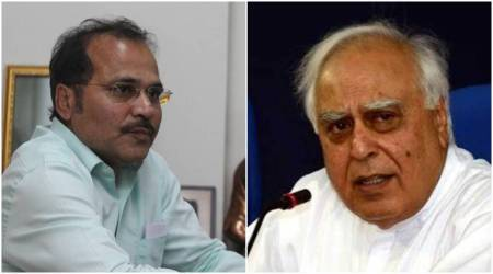 Adhir Ranjan Chowdhury, Kapil Sibal, Adhir ranjan hits out at Sibal, Congress leadership, Congress bihar polls, Ashok gehlot, Sonia Gandhi, Rahul Gandhi, India news, Indian express