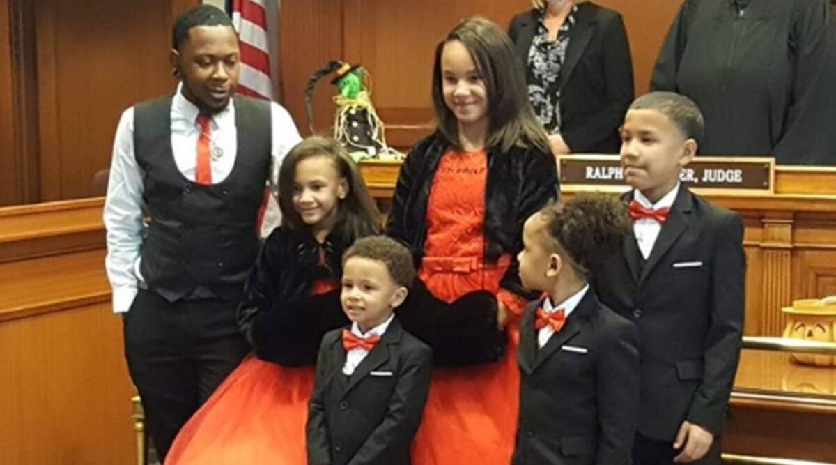 Man adopts five children, Foster care, Ogio, Single man, Adoption, five sibling kids, Trending news, Good news, Indian Express news