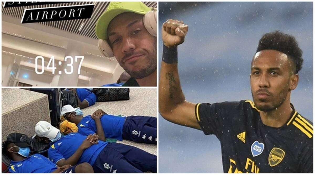 Aubameyang, Aubameyang gabon airport, Aubameyang forced to sleep on airport floor
