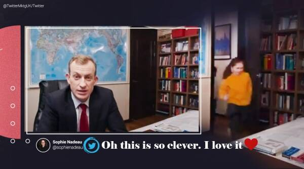 BBC dad twitter advertisement, Twitter conversation control ad with BBC dad, Robert Kelly twitter ad, Robert Kelly BBC dad, Robert Kelly Twitter conversation control advertisement, Twitter ad working from home interruptions, Robert Kelly latest Twitter ad, Robert Kelly viral video, Twitter, Trending news, Indian Express news