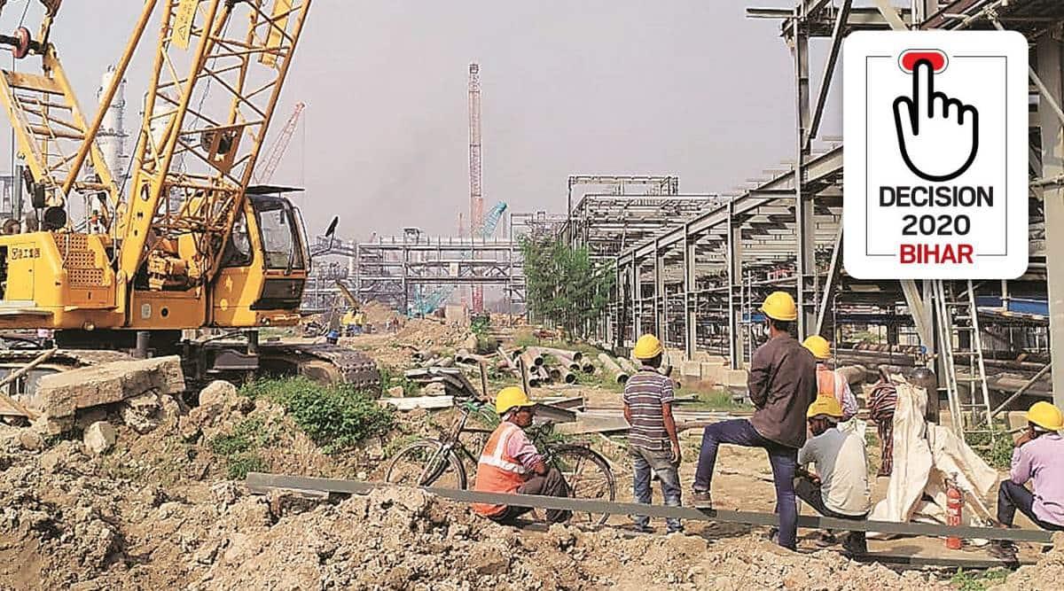 Bihar elections 2020, Bihar Assembly elections 2020, Barauni, Barauni industrial area, bihar farmers, apmc, nitish kumar, jdu, Bihar dailry business, Indian express