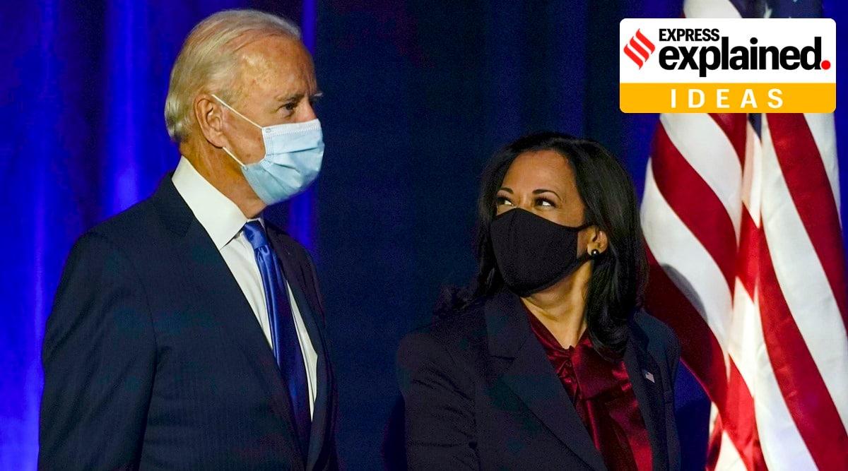 Joe Biden, Kamala Harris, Biden Harris administration, US election, Election news, Indian Express