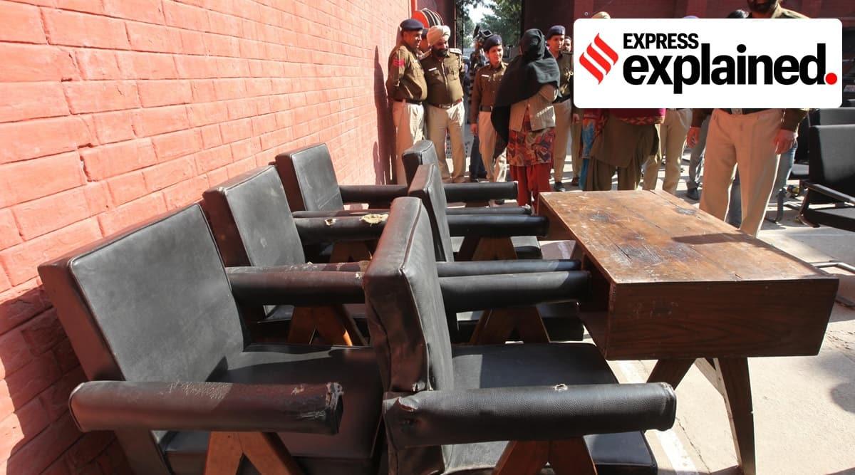 Chandigarh, Chandigarh news, Chandigarh heritage furniture, Le Corbusier, Le Corbusier furniture, Chandigarh furniture auction, Indian Express