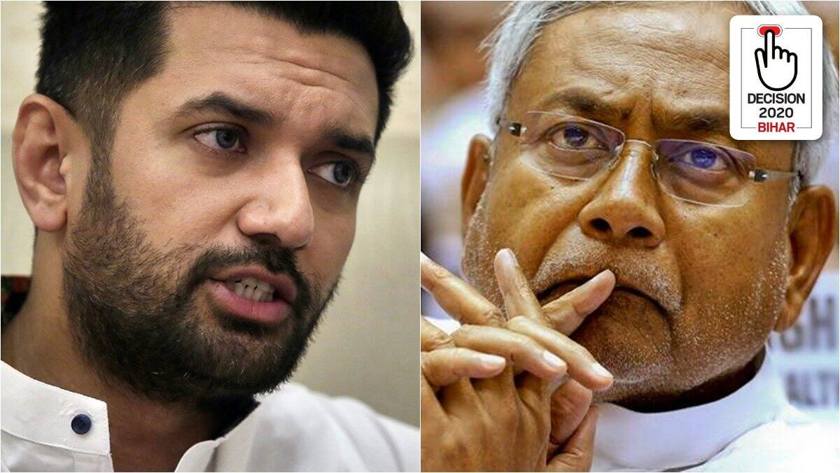 chirag paswan on nitish kumar, nitish kumar, lalu prasad yadav, bihar elections, bihar assembly elections 2020, indian express
