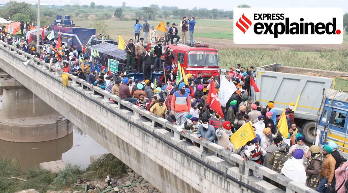 Punjab farmer protest, Haryana farmer protest, Delhi farmer protest, Delhi Chalo, Dilli Chalo, Indian Express