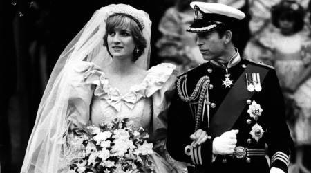 Princess Diana, Princess Diana wedding dress, Princess Diana wedding dress in The Crown, Princess Diana and Prince Charles wedding, The Crown Season 4, indian express news