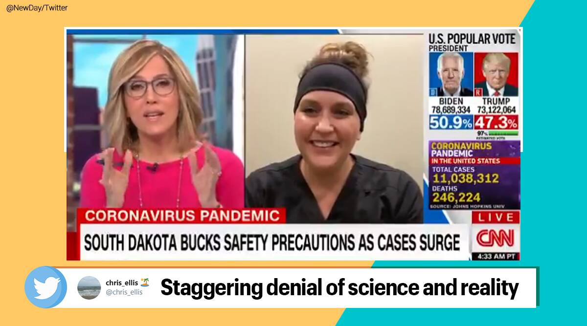 South Dakota nurse, COVID-19 patients, COVID-19 is not real, CNN interview, South Dakota ER nurse, Twitter thread COVId-19 patients experience, Viral news, Trending news, India Express news.