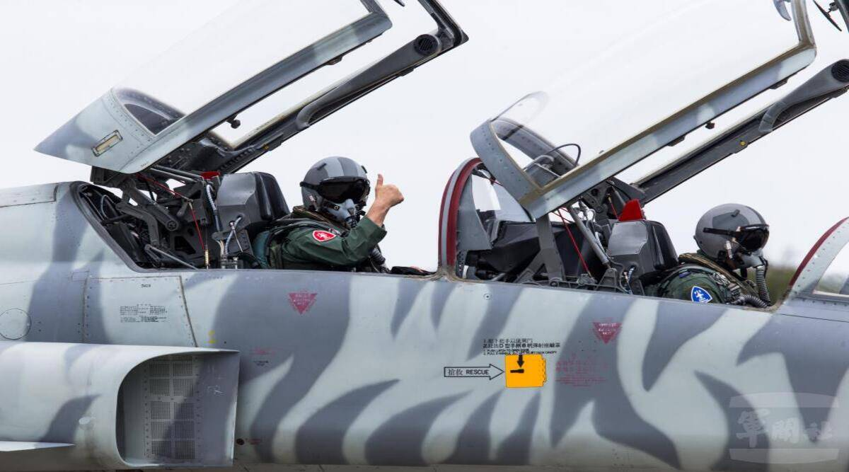 Taiwan Air Force Chief, F-5 fighter jet