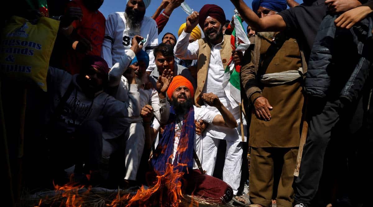 farmers protest 2020, delhi farmers protests Farm bill 2020, Punjab farmers protest, Farm laws 2020, Farmer's Protest, MSP, Nihangs, Singhu border, Indian Express